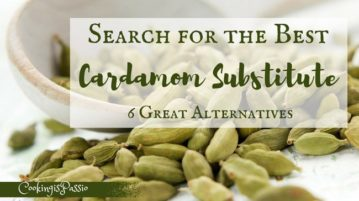 cardamom substitute in chai