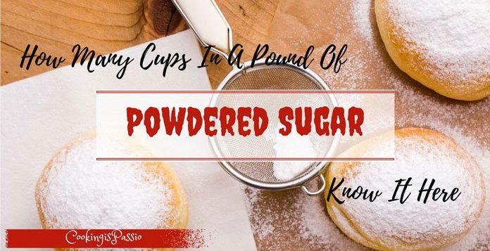 8 oz powdered sugar in cups